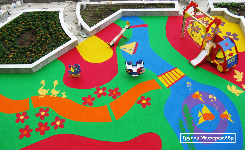 Безопасное покрытие для детской площадки своими руками